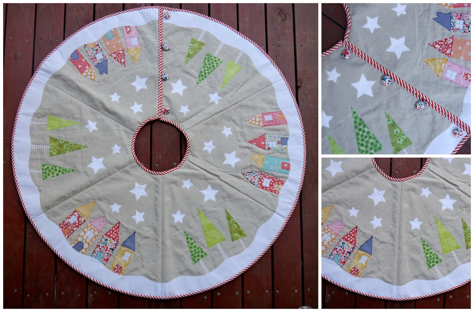 Tied with a Ribbon: Yule Tide Tree Skirt Sew Along