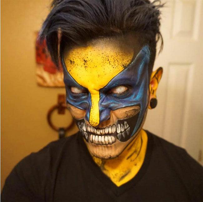 Cuando un artista se convierte en superhéroes gracias a la pintura corporal