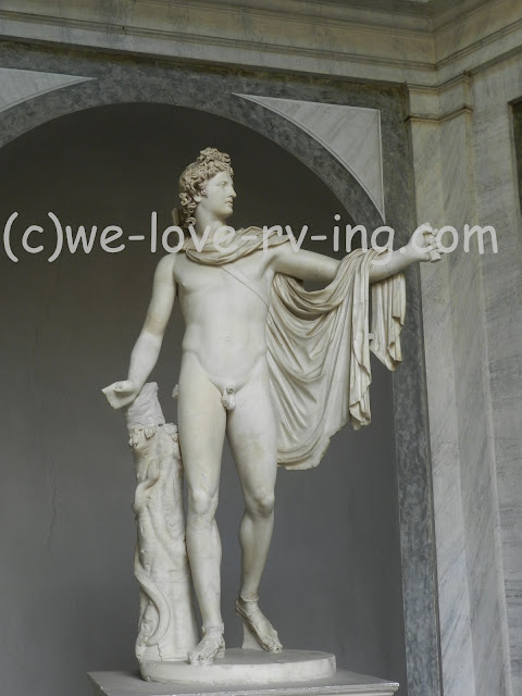This sculpture is of Apollo Belevedere in Museo Pio-Clementino