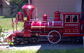 little red train engine
