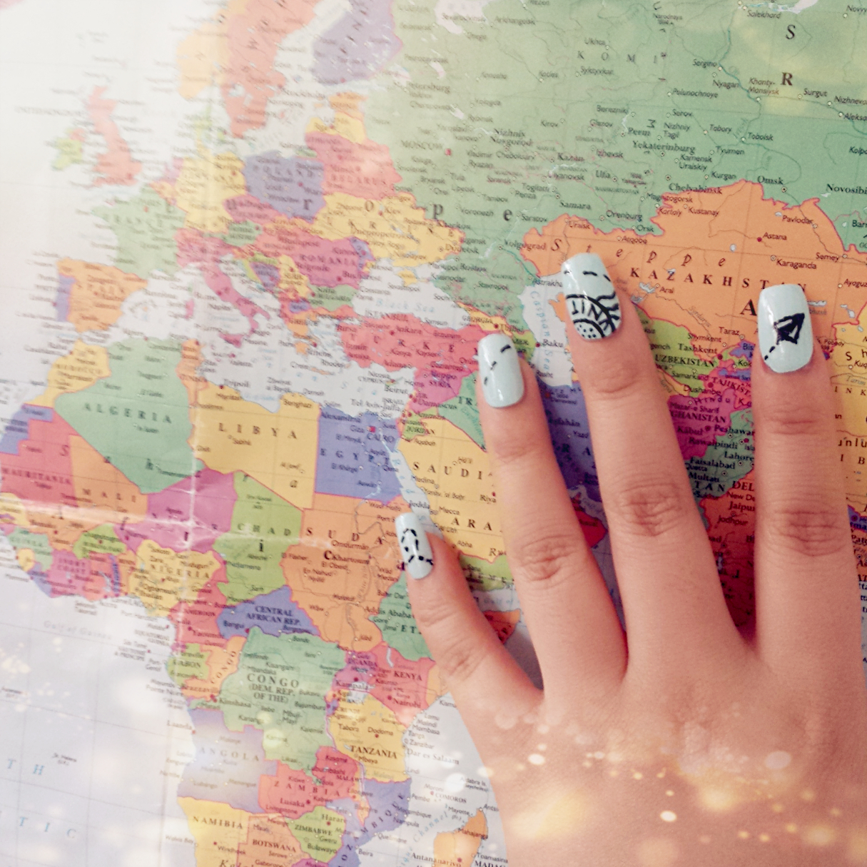 Dainty nail studio i adore this look and would recommend it to anyone who loves travelling an easy look that can be done by anyone cant wait to find out nail art designs prinsesfo Images