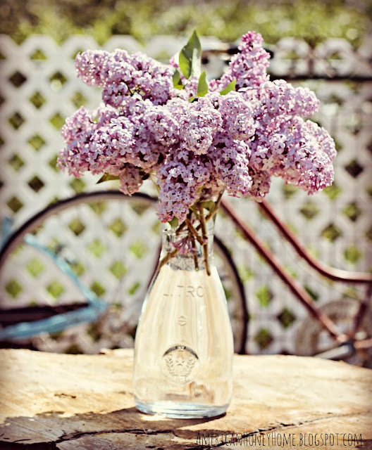 Lilacs Antique and Vintage Decor Link Party at http://knickoftimeinteriors.blogspot.com/