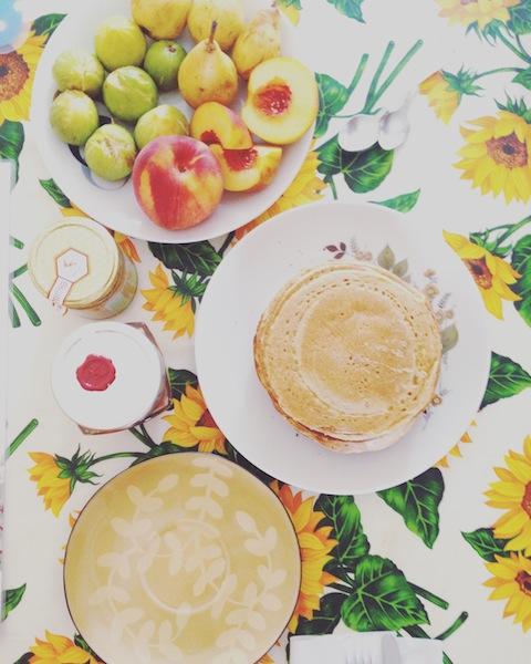 Vegan pancake con farina di ceci