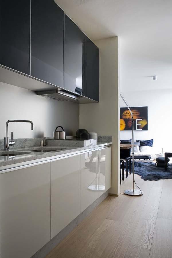 Muebles de cocina en dos colores - Cocina de color ...