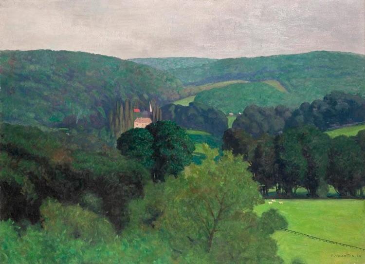 Landscape painting references for Vallotton architecte