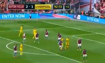 Liverpool vs Aston Villa 1-2 FA Cup (Video Gol)