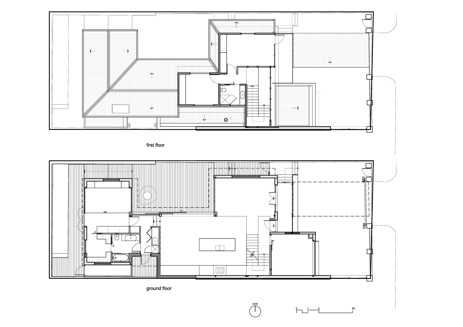Open Floor House Plans Drawing
