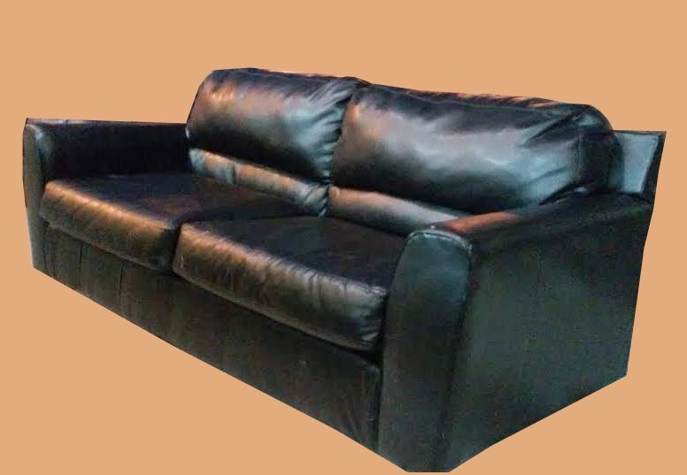 Black Blended Leather Sofa Reduced 195 Sold