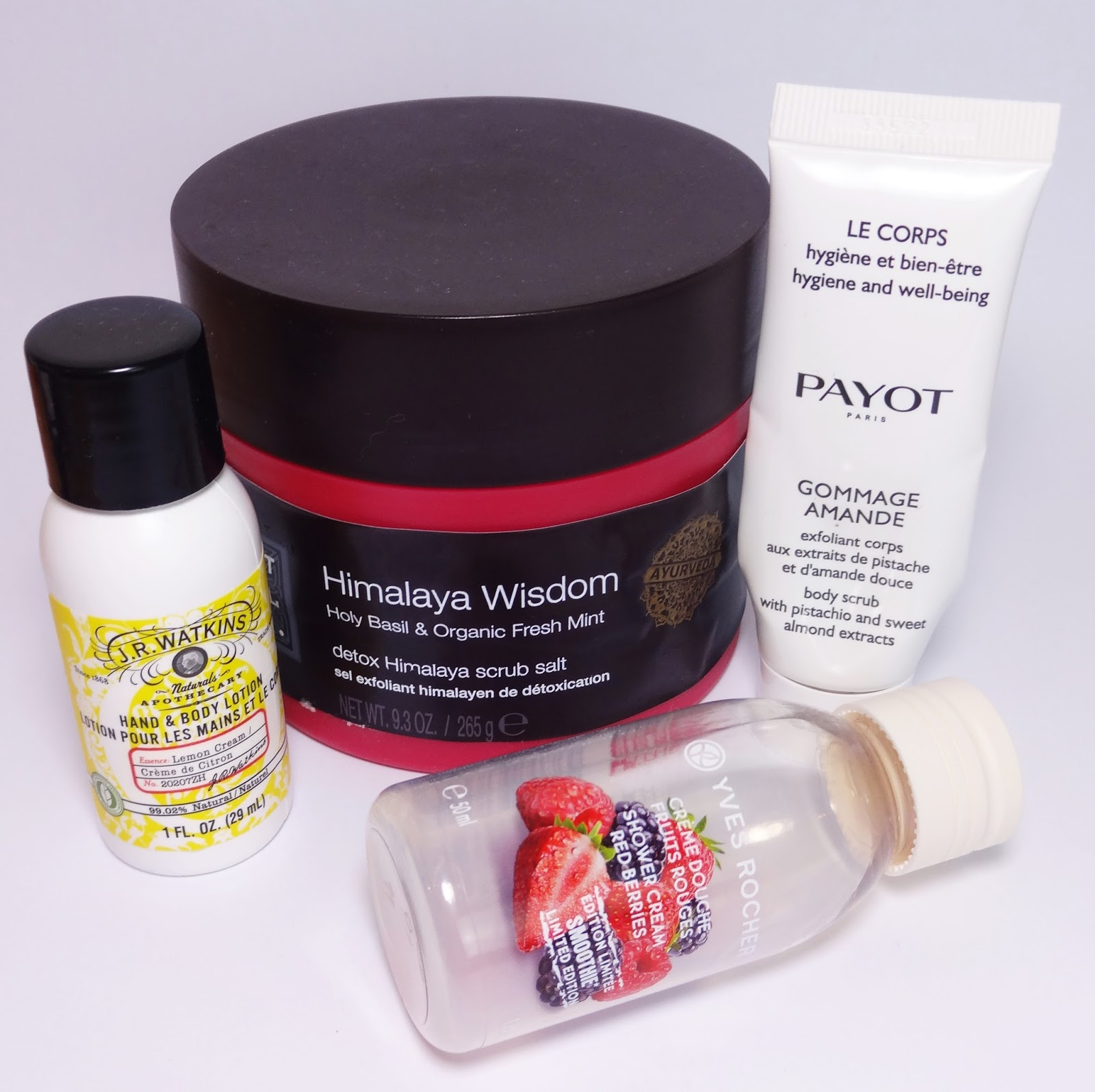 Rituals, Payot, Yves Rocher, J.R. Watkins