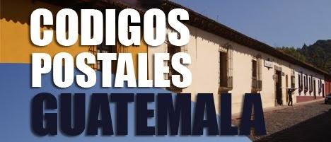 Codigos postales Guatemala