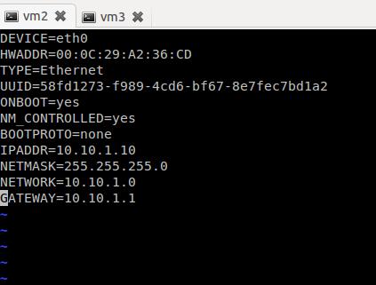 Linux static IP configuration
