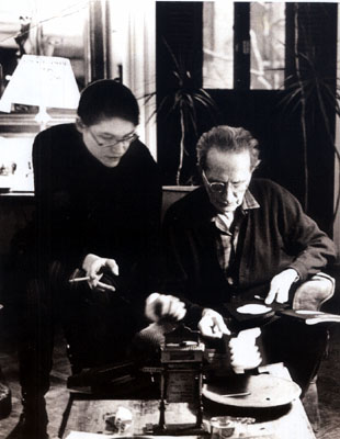 Marcel Duchamp Teeny Duchamp John Cage David Tudor Gordon Mumma David Behrman Lowell Cross Reunion T
