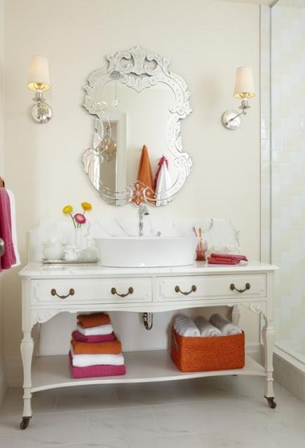 decorar lavabo antigo:Casa da Anita: Decoração de banheiros: aposte em móveis antigos!