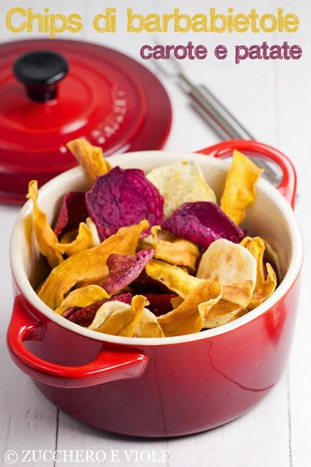 Chips di barbabietole, carote e patate
