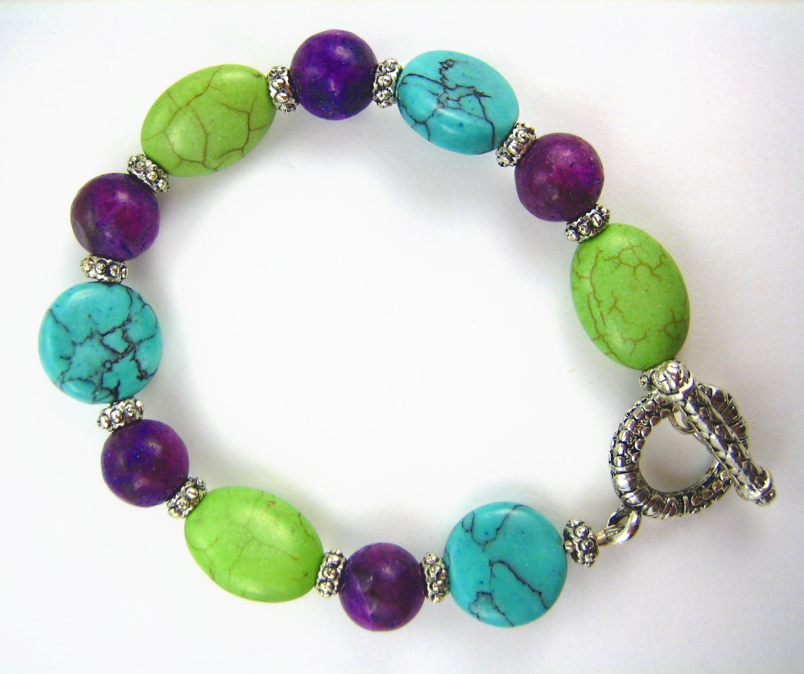 jewelry design shop large bead purple turquoise green