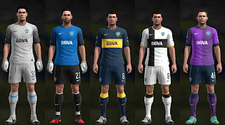 PES 2013 Boca Juniors 12 13 Kit Set by Santy Argentina