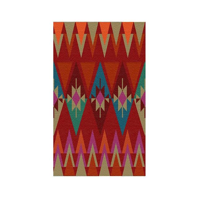 Krsna Mehta - designer rug geometrical shapes colors