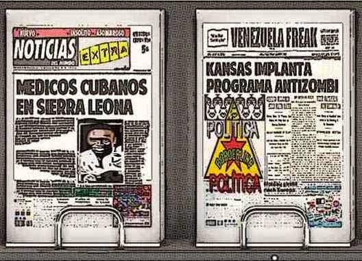 Front pages tipo cómic - médicos cubanos en Sierra Leona