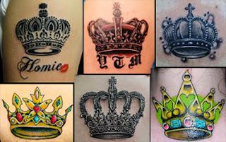 Fotos de tatuagens de coroa pequenas