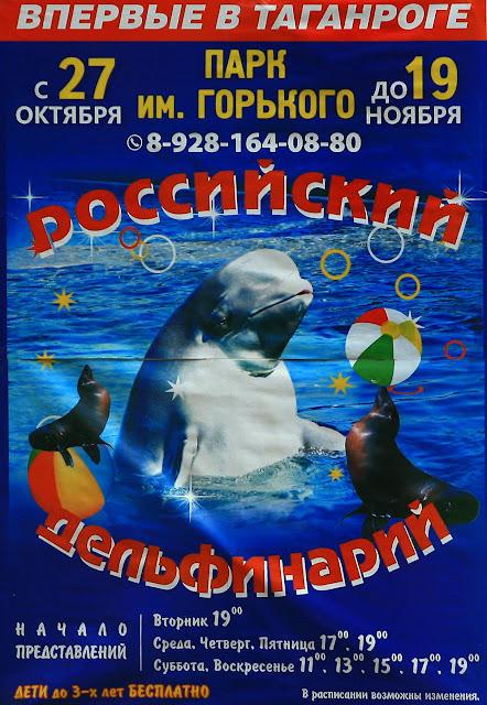 """Афиша """"Российского дельфинария"""""""