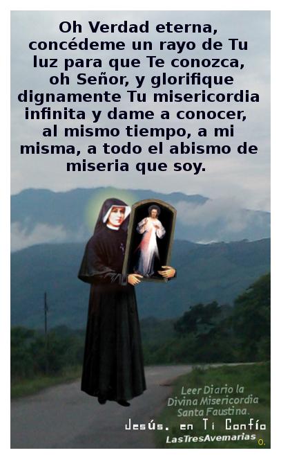 santa faustina con una oracion para conocernos