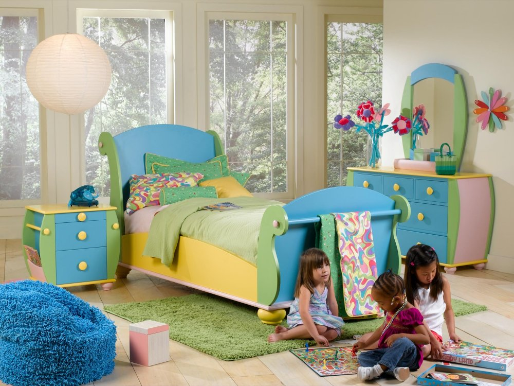 Little girls bedroom little kids bedrooms for Furniture for toddlers room