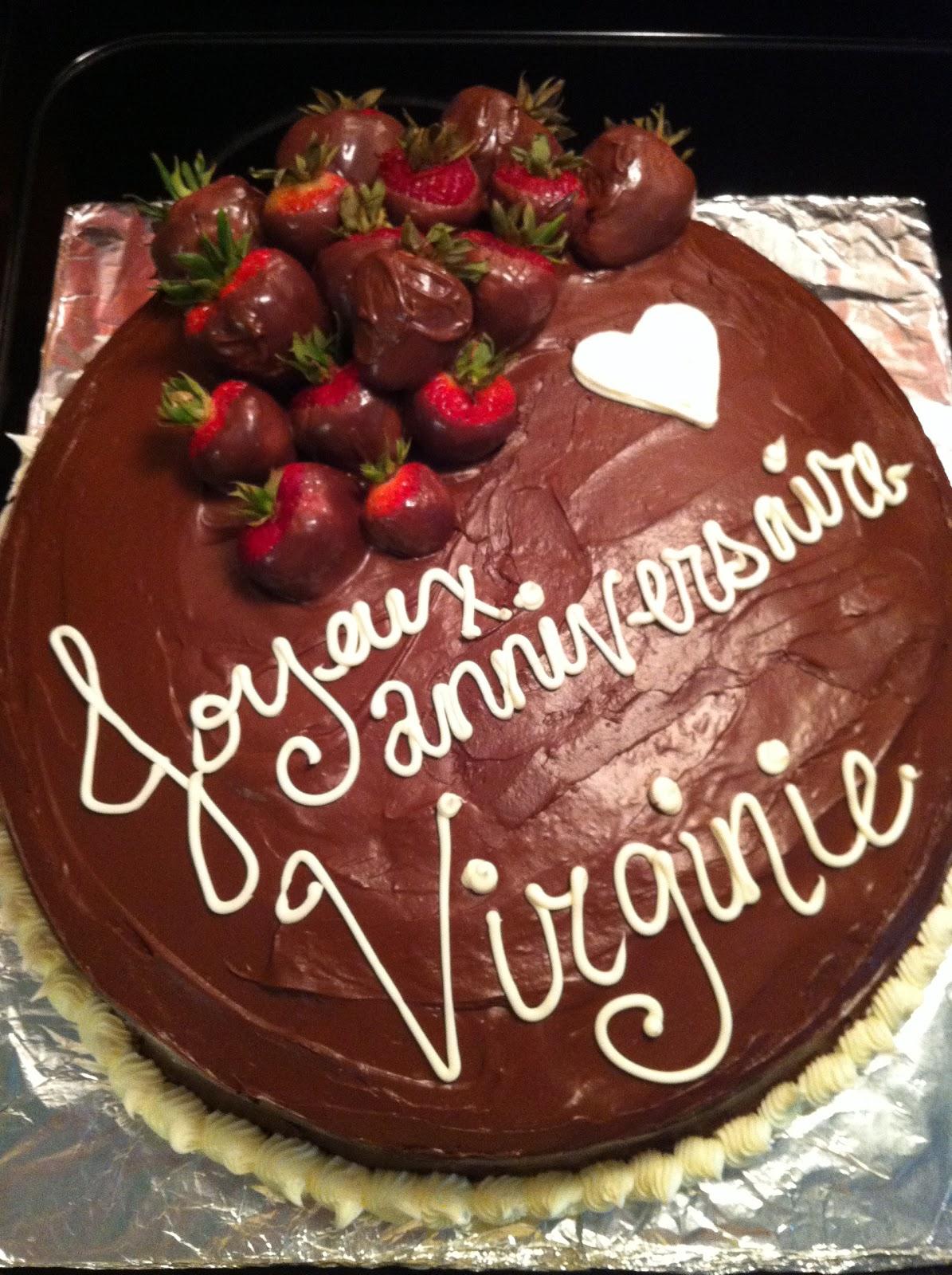 Jessica Alvey Cakes Joyeux Anniversaire Virginie