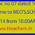 Orientation Programme to MEO'S,SCHM'S, HM'S,DLMTs,CRPs