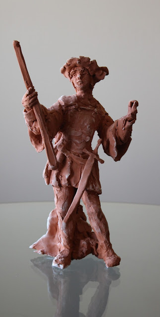 page, sculpture, art, red, terracotta, earthenware, escultura, arte, kunst, boy, study, small, youth, ceramic, ceramica, full length, figure, keramik, sketch, clay, sarah, myers