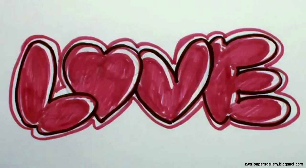 How to Draw Graffiti Letters   LOVE in Bubble Letters   YouTube