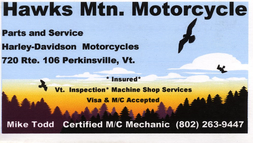 Weathersfield Vermont Directory of Services: Business Cards A-Z