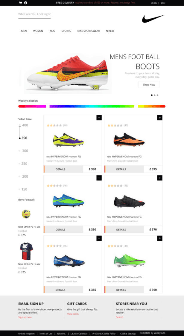 Spike ECommerce Responsive Web Template