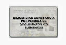 Denuncia Documentos Extraviados y consulta