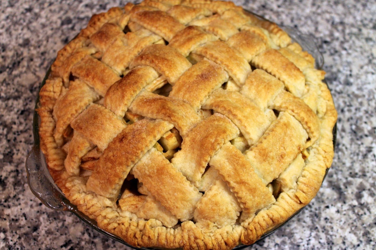 Lattice Apple Pie with Rye Whiskey Crust