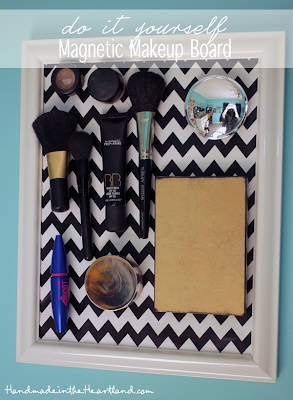 DIY Magnetic Makeup Board