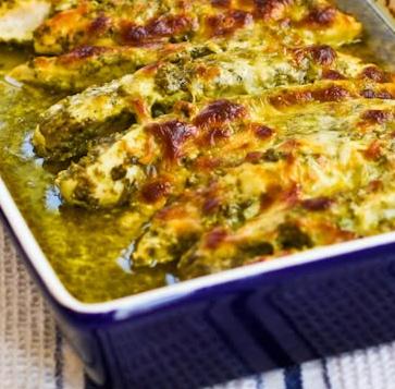 what's for dinner?: Baked Pesto Chicken