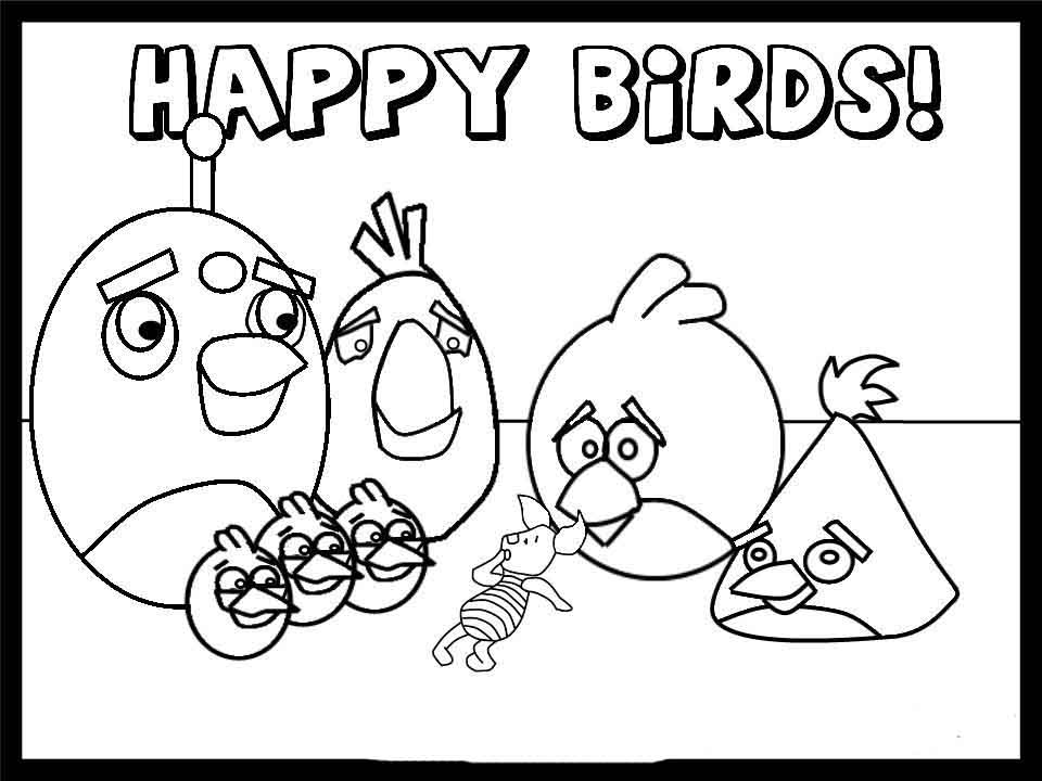 angry birds coloring pages game - photo#2