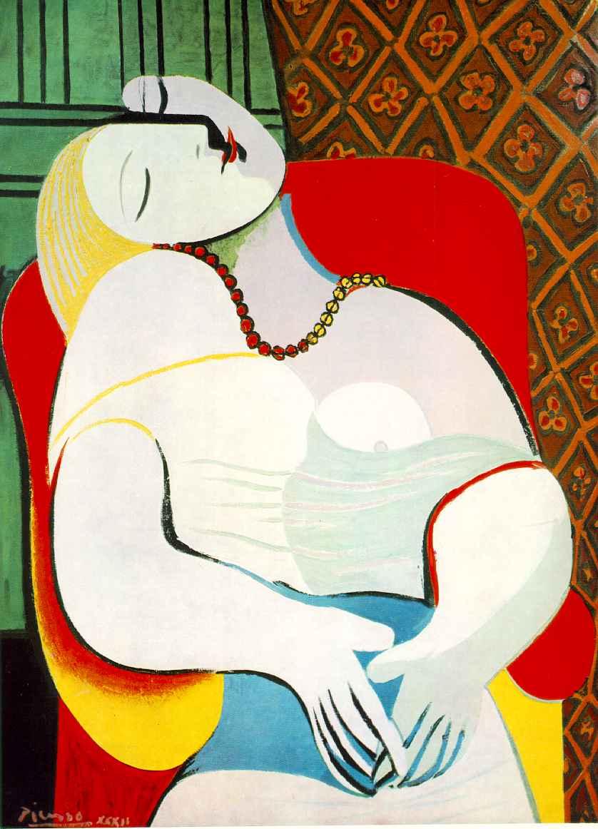 "Image: Pablo Picasso -- ""The Dreamer."""
