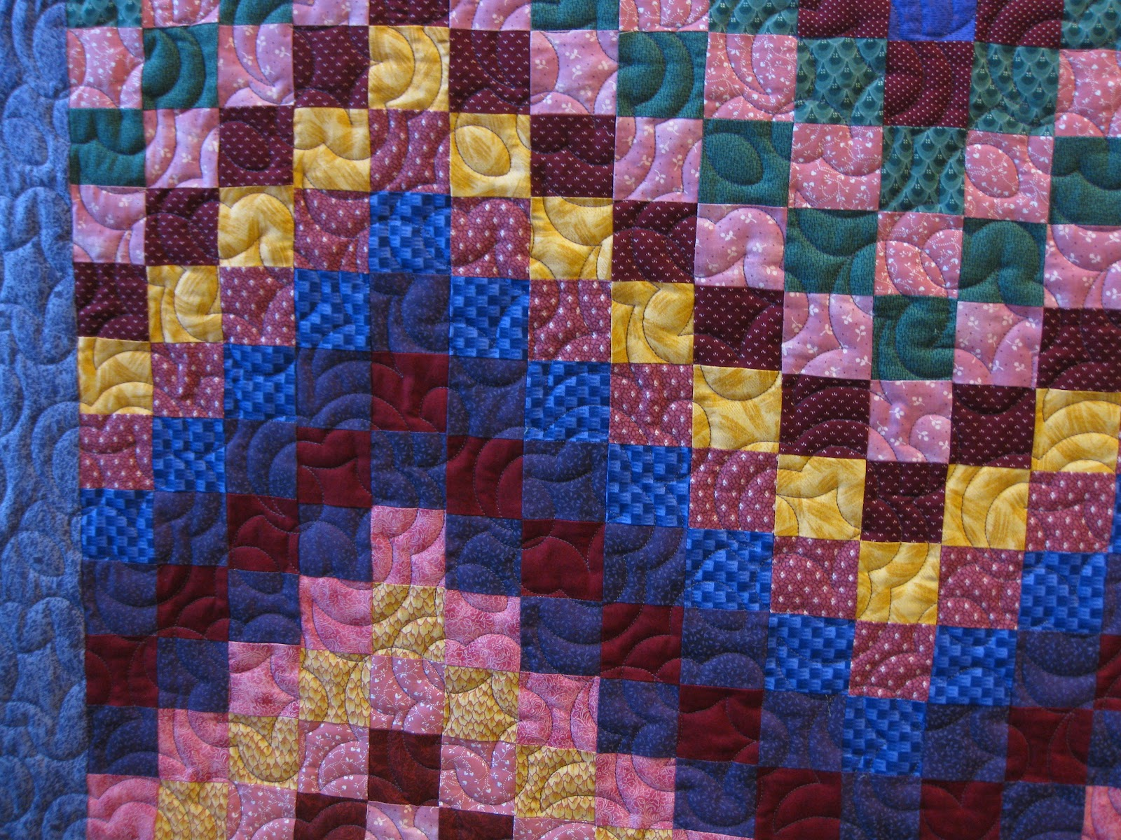 Easy Quilt With Three Fabrics : Millie s Quilting: Bargello Quilt and a few UFO s