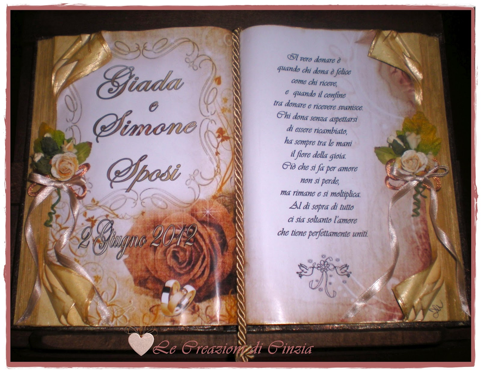 Auguri Matrimonio Zii : Le creazioni di cinzia tanti auguri agli sposi oggi