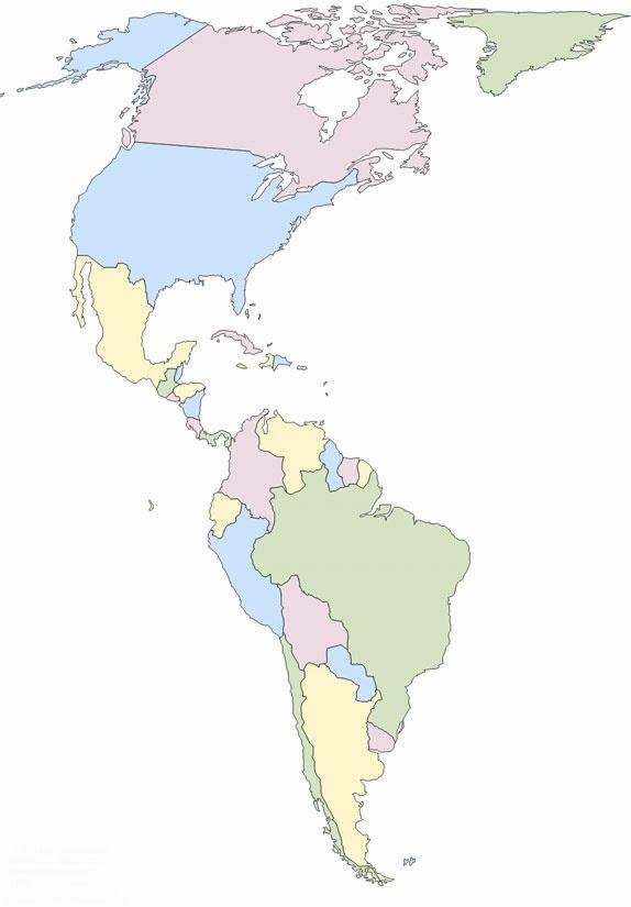 Ciencias sociales mapa am rica pol tico for America todo un inmenso jardin eso es america