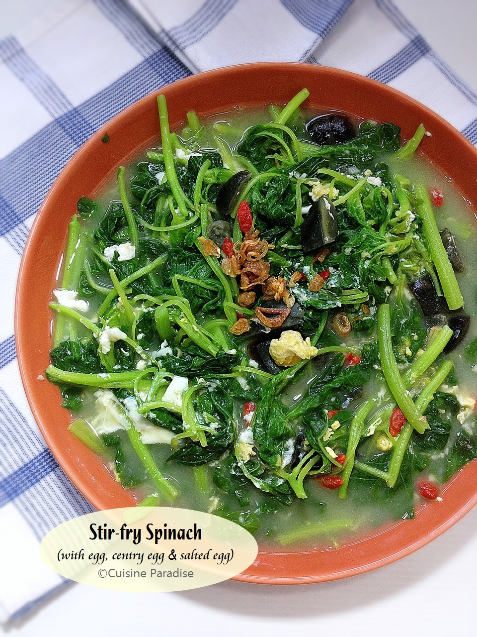 Cuisine paradise singapore food blog recipes reviews and 2 recipes chinese spinach with 3 eggs yin choy fishaball soup forumfinder Image collections