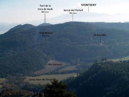 Panoràmica vers el sud des de la pujada al Puig Cornador