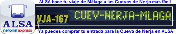 ALSA hace tu viaje en autobús de Málaga a la Cueva de Nerja más fácil, ya puedes comprar tu entrada para la Cueva de Nerja en ALSA