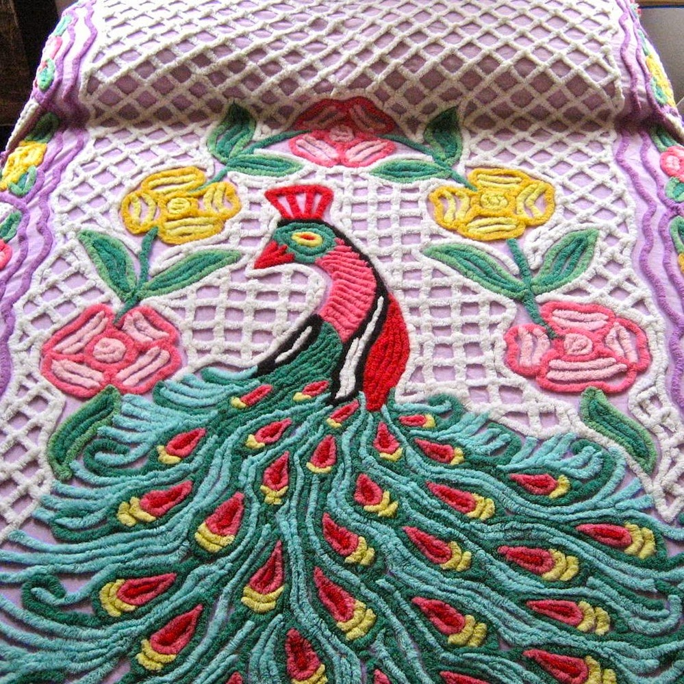 once i tore a lovely handmade chenille by not paying attention and yanking on a corner to get it out of the washer very sad - Chenille Bedspreads