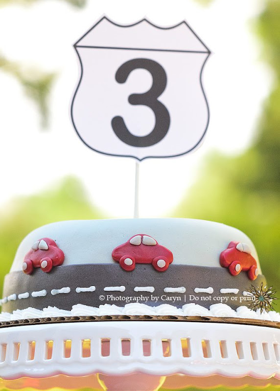 Route 3 Red Car 3rd Birthday Party