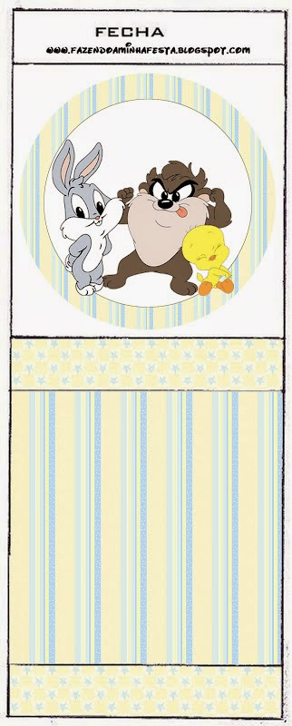 Etiquetas de Lonney Tunes Bebés para Niñas para imprimir gratis.