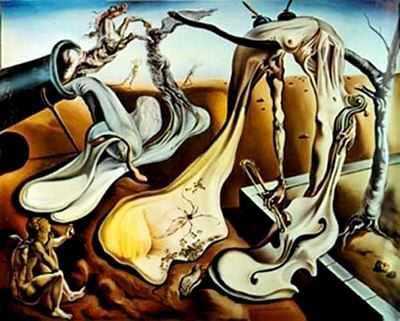Salvador Dalí papaito piernas largas al amanecer