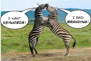 Keywords vs branding Zebra fight