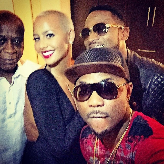 amber rose in lagos